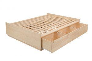 cama de casal setorize com gavetas abertas