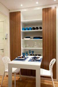 Sala de jantar de apt com 3m2 com mesa dobravel