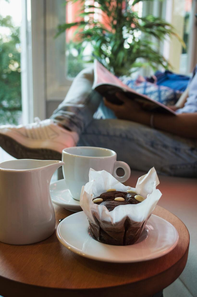 Receita de muffin de chocolate