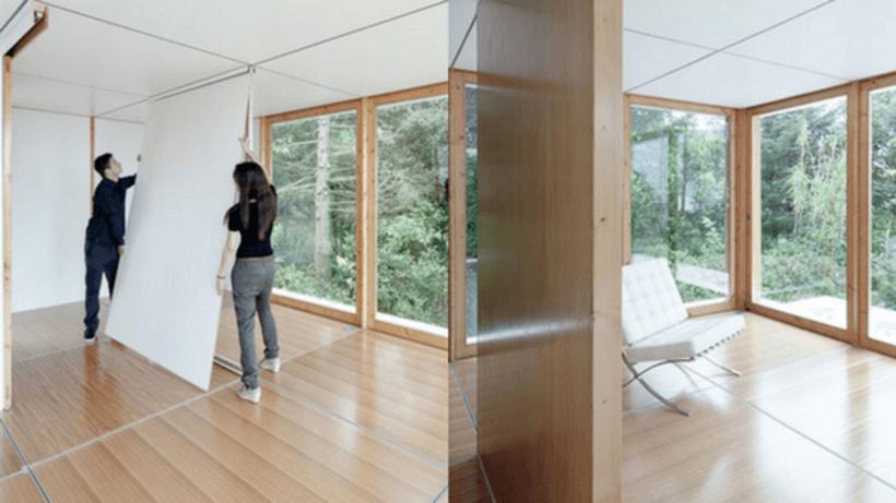 colocando paredes inteiras e removíveis na casa mime