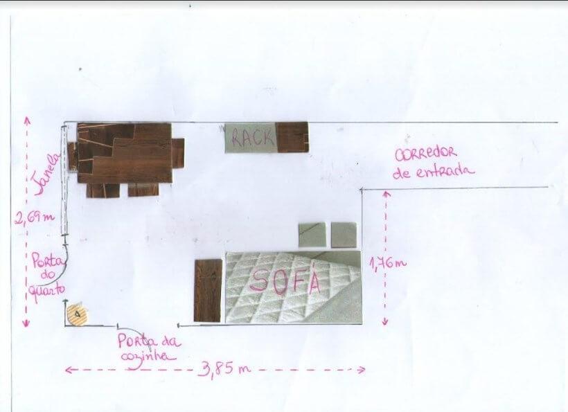 planta final com distribuição interna dos móveis