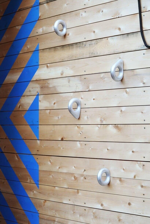 parede de escalada da casa parquinho