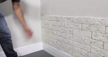 revestimento ecobrick para parede