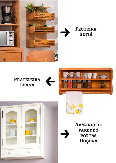 prateleira e armário para cozinha