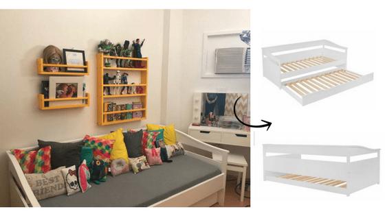 santa ajuda episódio com sofá-cama e bicama meu móvel de madeira