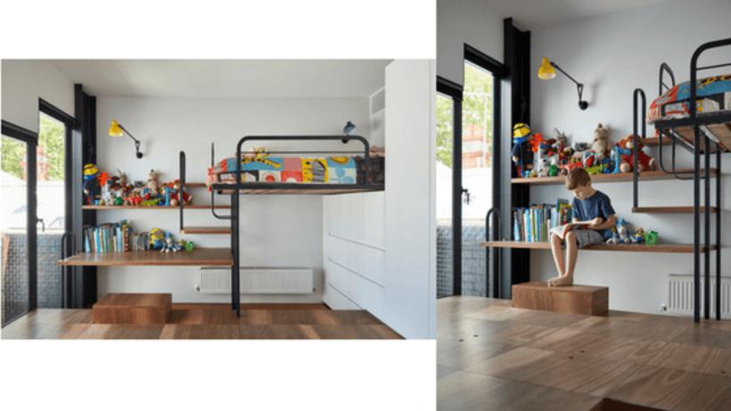 cama infantil suspensa para economizar espaço