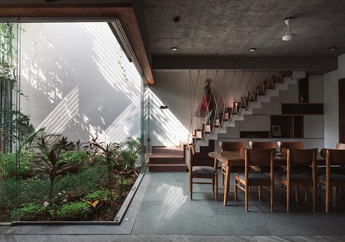 plantas sendo incorporadas à arquitetura