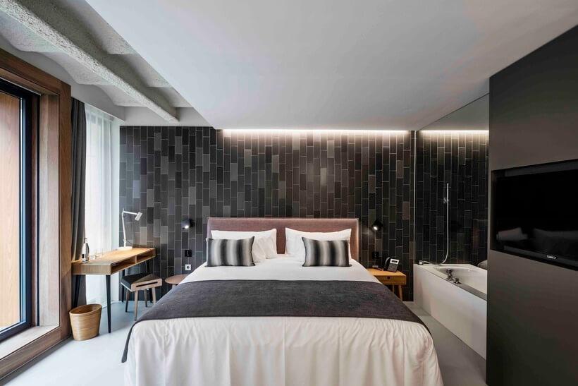quarto de hotel moderno