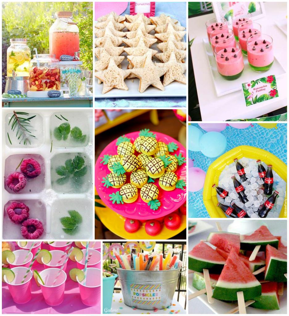 Inspirações de comida para pool party