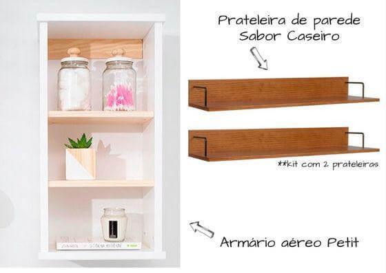 armários e prateleiras para organizar a area de serviço