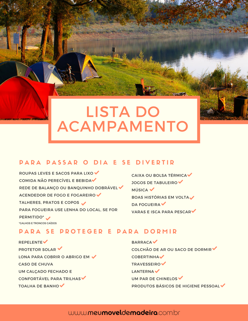 Checklist para acampar