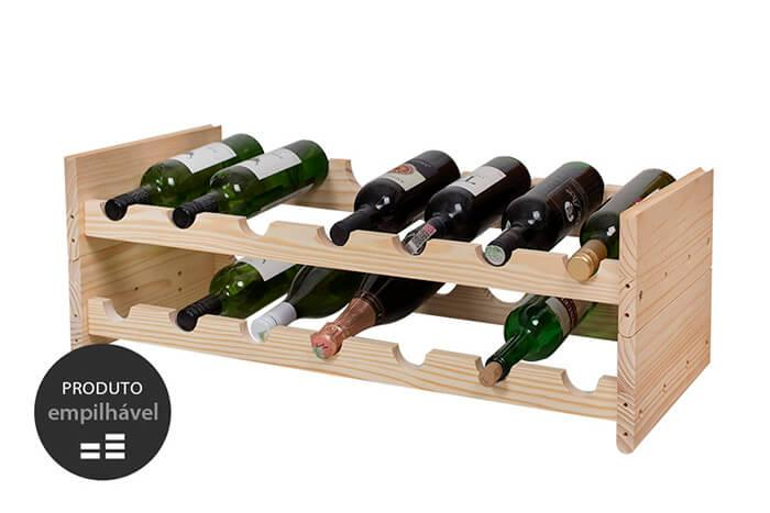 porta vinho legno cru