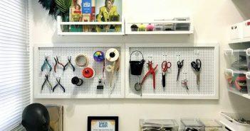 painel pegboard para organizar ferramentas