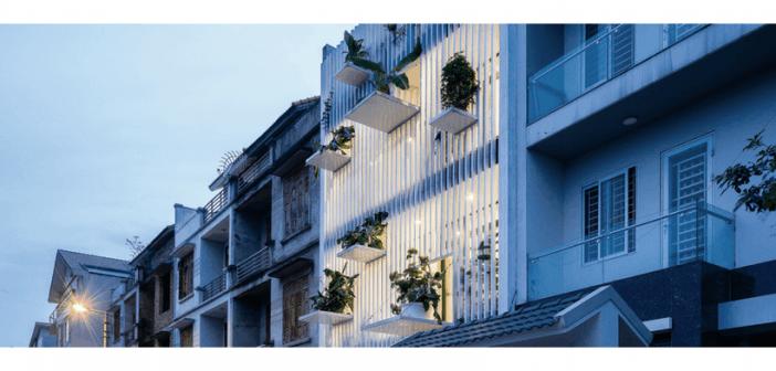 Casa no Vietnã com jardins suspensos