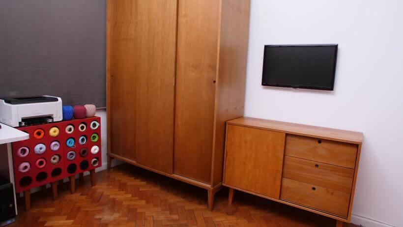 moveis da meu movel de madeira no programa santa ajuda organizando um quarto e atelier de costura