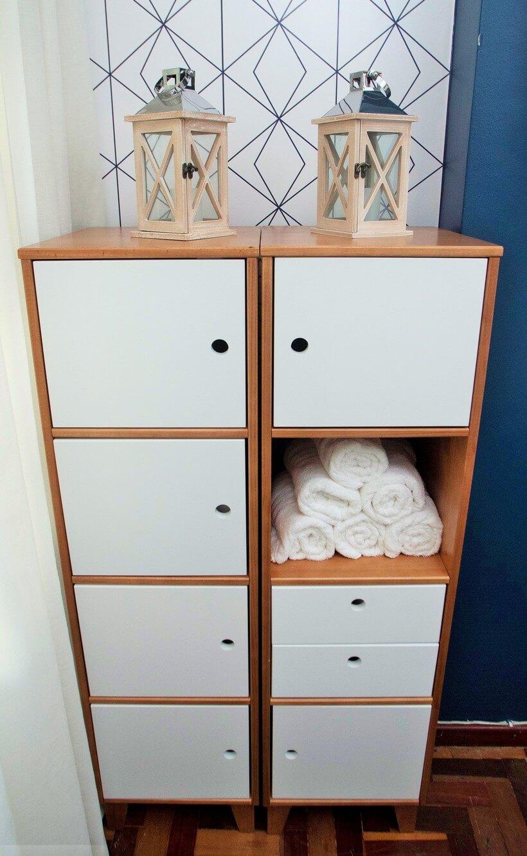 estante com nichos e gavetas para organizar escritorio no santa ajuda