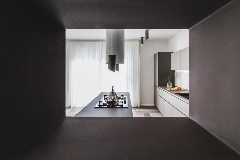 cozinha da casa de uma pessoa cega