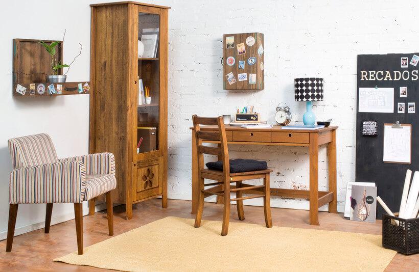 escritorio inteiro de madeira