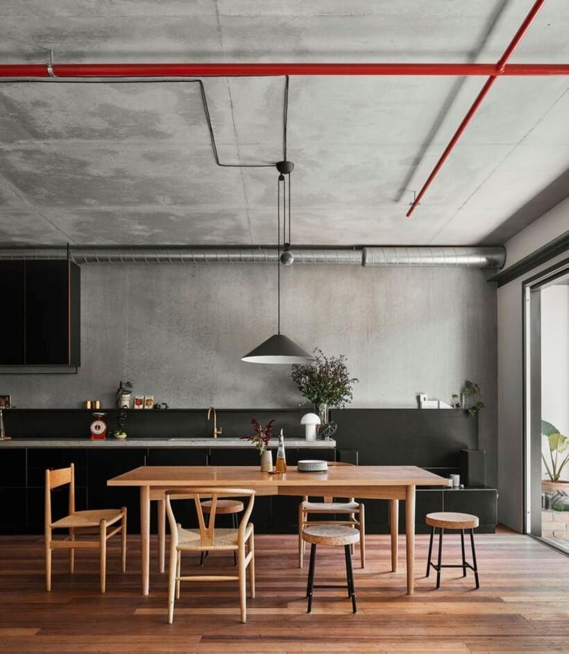 sala de jantar minimalista