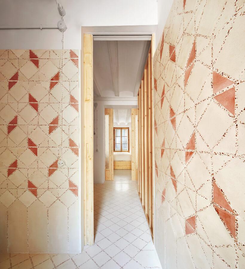 paredes de ladrilho hidraulico de revestimento geométrico