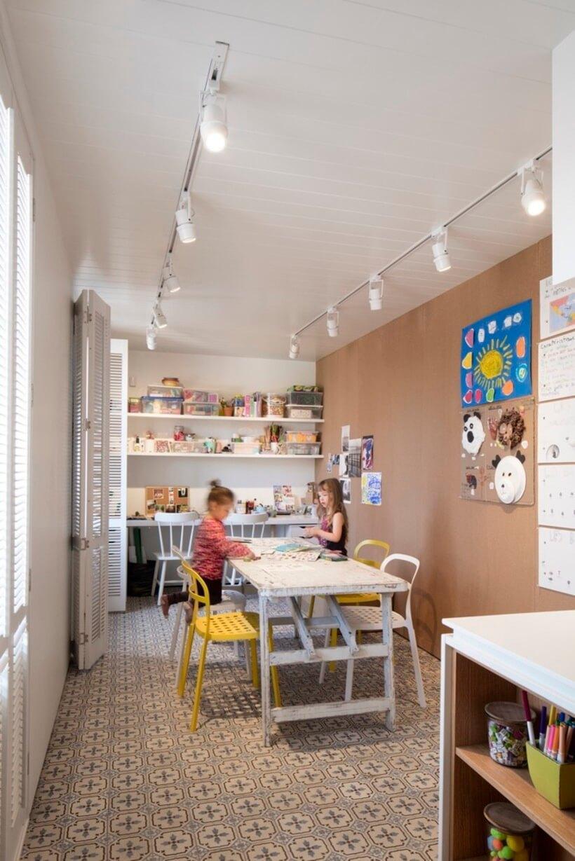 espaço infantil para os filhos brincarem no escritorio
