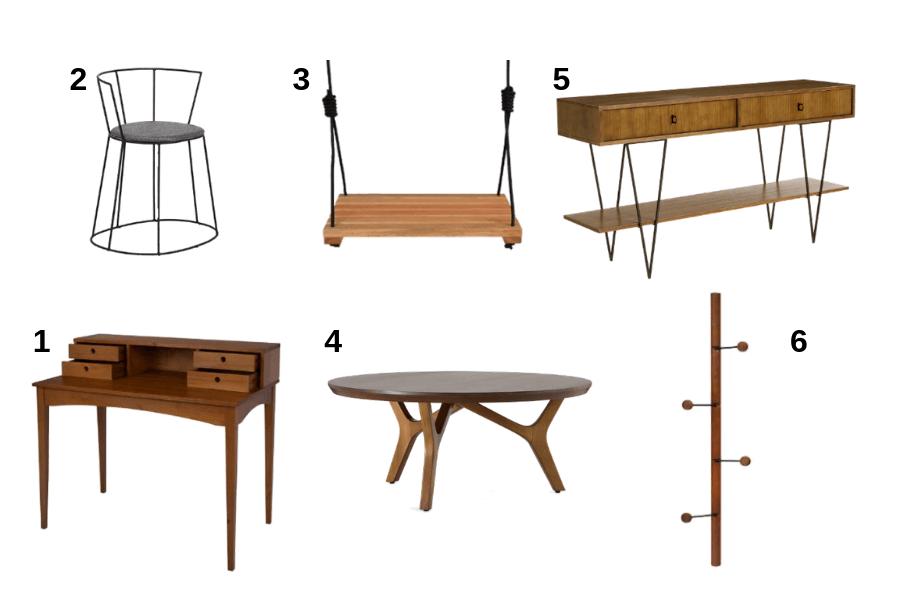 Sugestão de produtos em estilo moderno para usar em casa