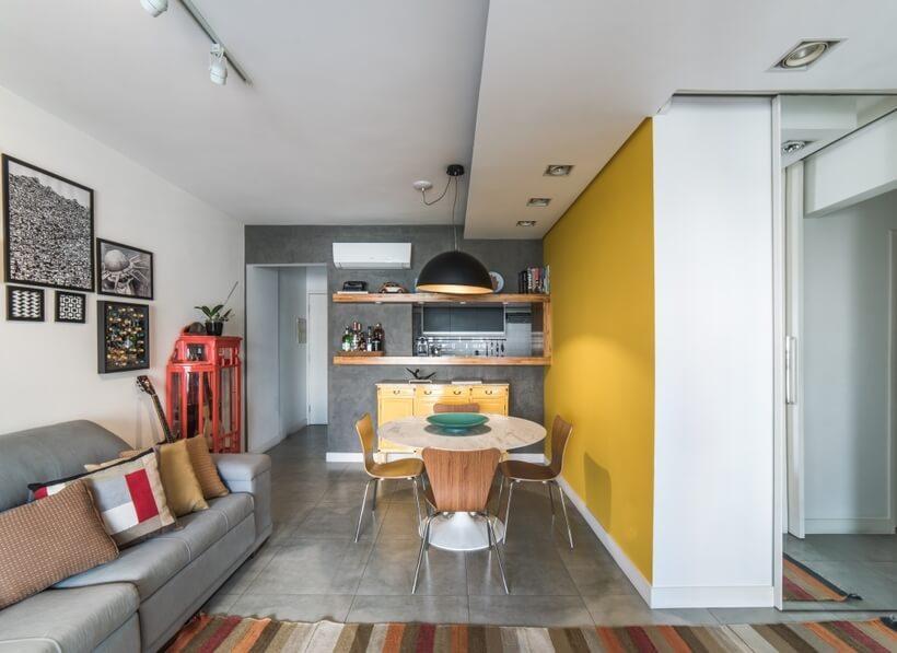 detalhe da sala de estar do Apto Sumaré - Pietro Terlizzi