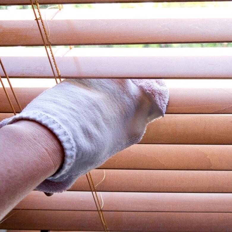meia para limpar persianas