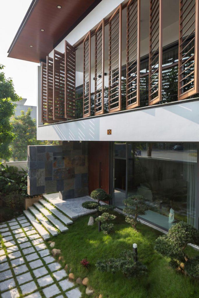 Entrada de uma casa no vietnã
