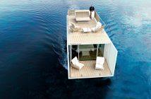 Uma casinha para flutuar no mar