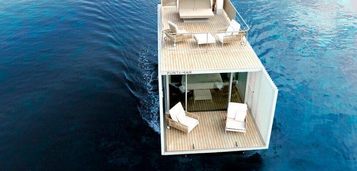 Uma casa flutuante na Espanha