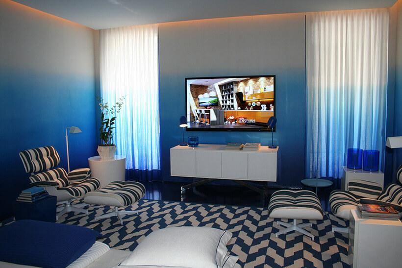 """O efeito degradê deixa o cômodo com carinha de """"casa de pinterest"""", e você mesma pode fazer em casa! Foto: Revista Zap Imóveis"""