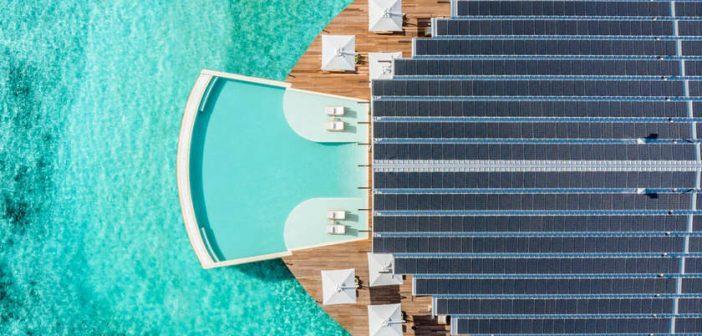Energia solar fotovoltaica abastece resort flutuante nas ilhas Maldivas
