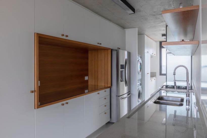 armario embutido na cozinha do apartamento consolacao - avenida paulista
