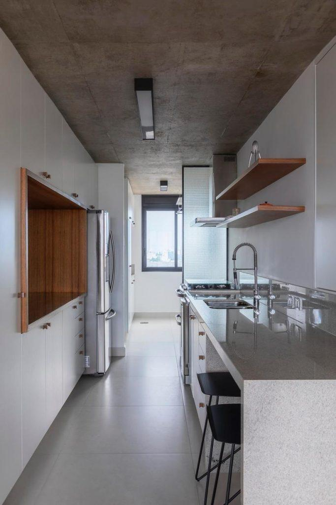 cozinha corredor do apartamento consolacao - avenida paulista