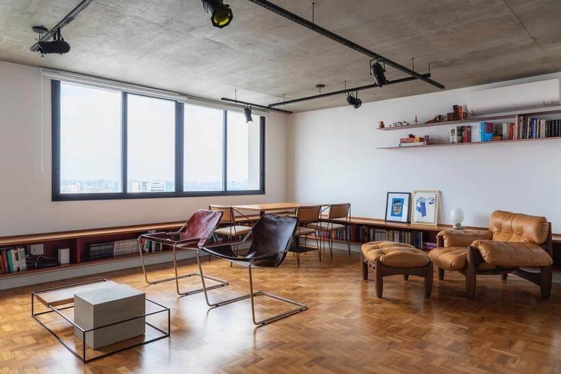 detalhe da sala de estar do apartamento consolacao - avenida paulista