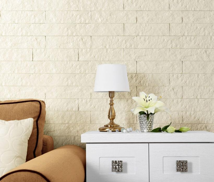 Ecobrick no tom algodão egípcio, da coleção Urban Bricks, da Santa Luzia