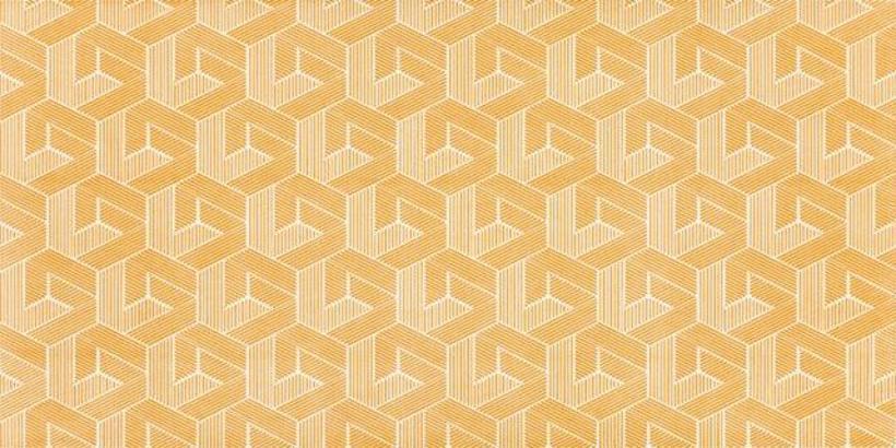 Revestimento Vibra Hexa amarelo, da Eliane