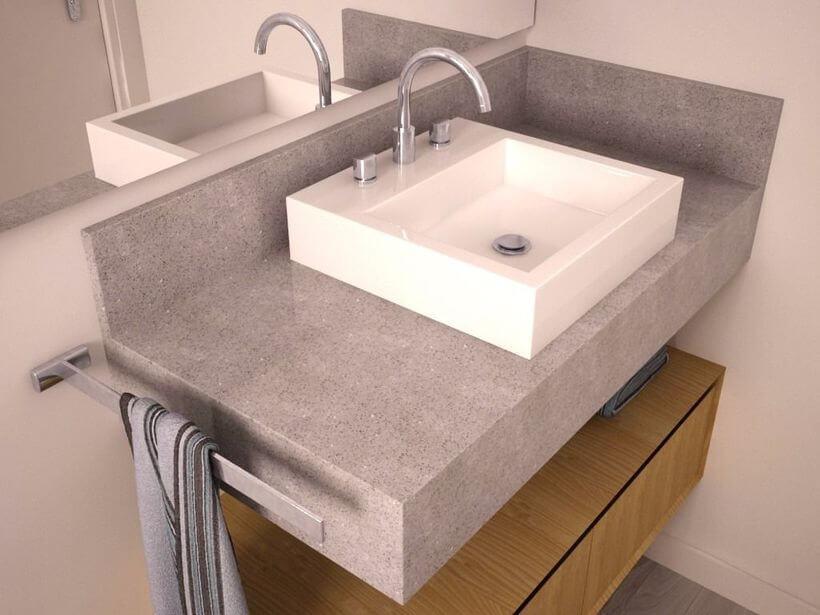 Você sabia que até mesmo a pia do seu banheiro pode ser revestida com granito? Pois saiba que essa é uma excelente ideia, afinal o granito possui baixíssima porosidade e bastante resistência.