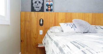 cabeceira de madeira para o quarto