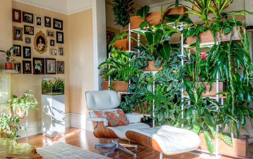 Jardim vertical Via: Martha Stewart, Rebeca Bullene