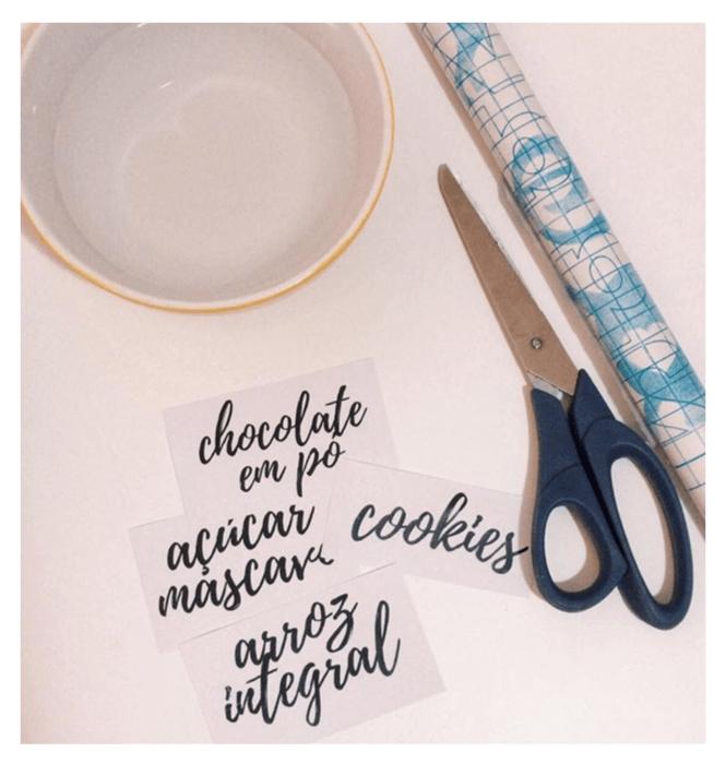 Como fazer etiquetas com papel contact