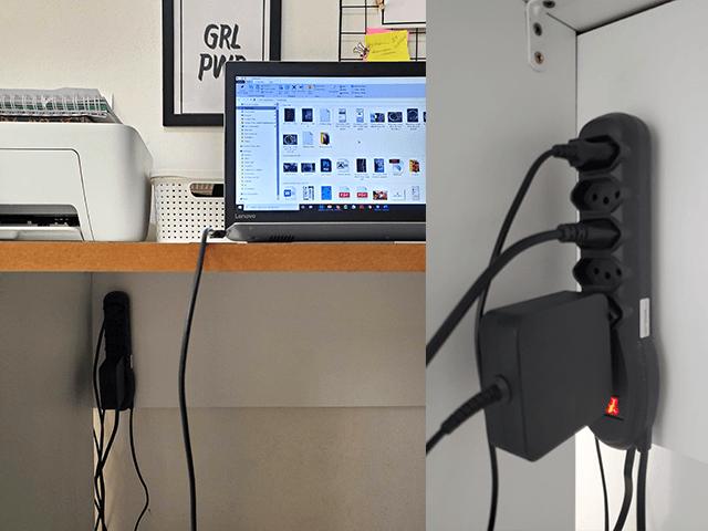 Como disfarrçar os fios dos aparelhos
