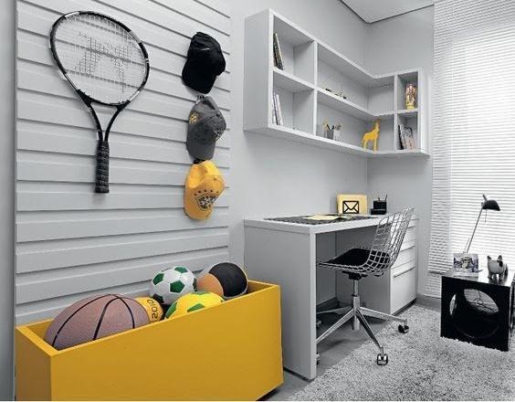 baú para organizar brinquedos no quarto de menino
