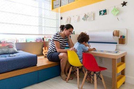 bancada de estudos para o quarto de menino do seu filho