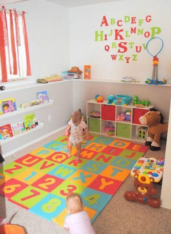 tapete educativo para quarto de menino