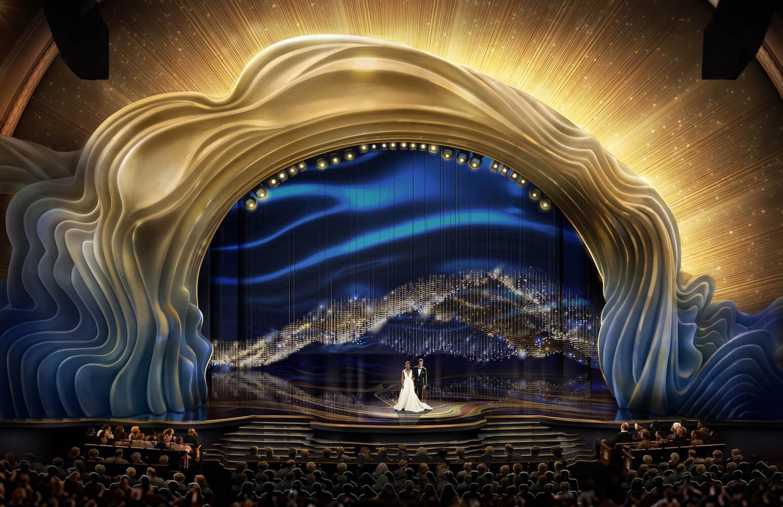 A Arquitetura no tapete vermelho do Oscar.